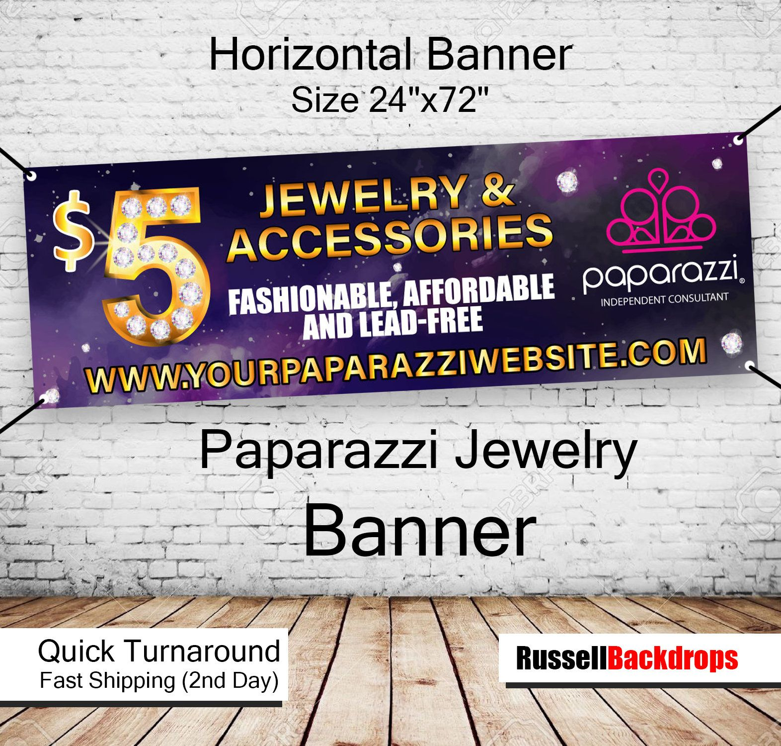 Paparazzi Jewelry Consultant Banner Printed Or Digital
