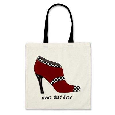 #polka #dots #chic #red #highheels #boots designer #tote #handbag by #mgdezigns #shoes #fashion