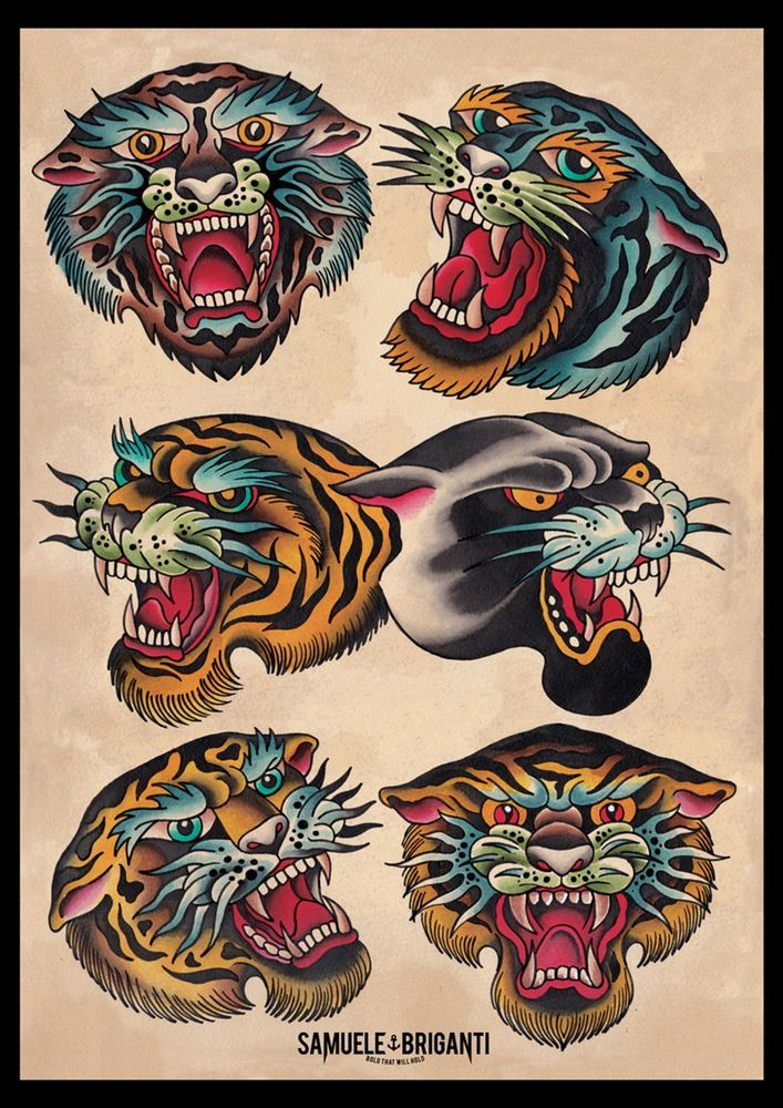 Image Of Tiger Poster Tattoo S Traditional Tiger Tattoo Tiger
