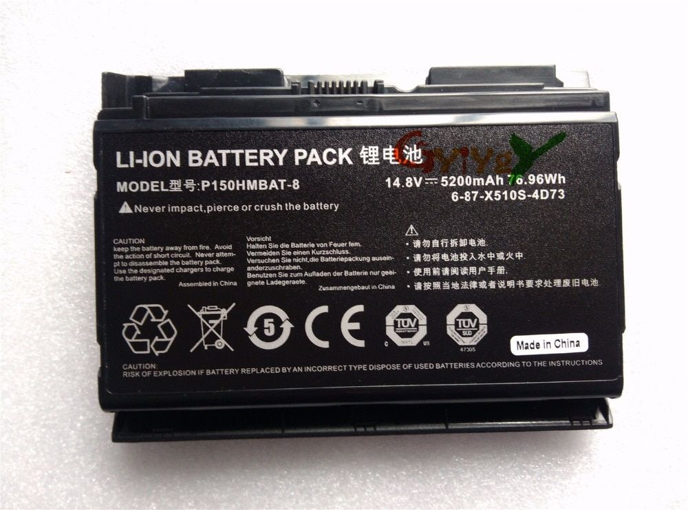 free shipping Battery for CLEVO 687X510S4D72 CLEVO P150