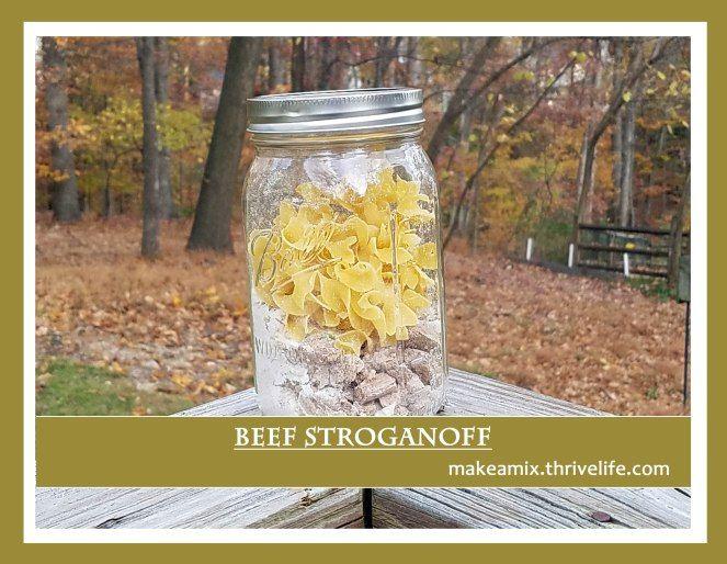 make ahead beef stroganoff jar meal