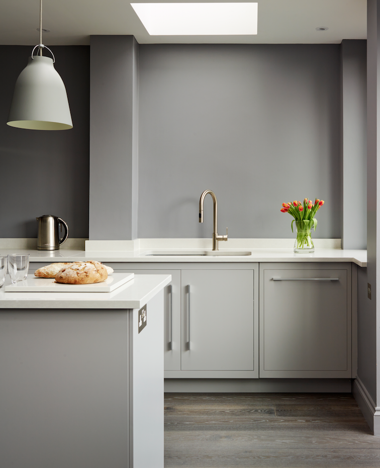 Best Harvey Jones Linear Kitchen Handpainted In Dulux Steel 640 x 480