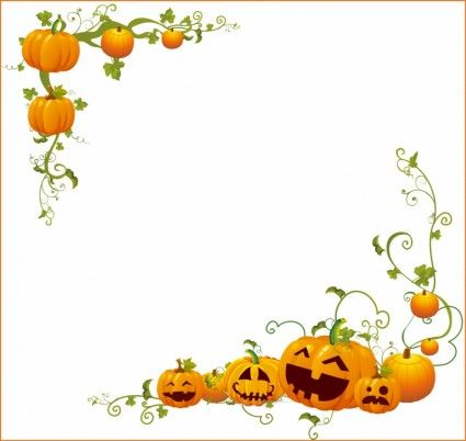Halloween Pumpkin Corner frame Free vector in Adobe Illustrator ai ...