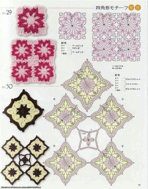 Delicadezas en crochet Gabriela: Patrones de motivos
