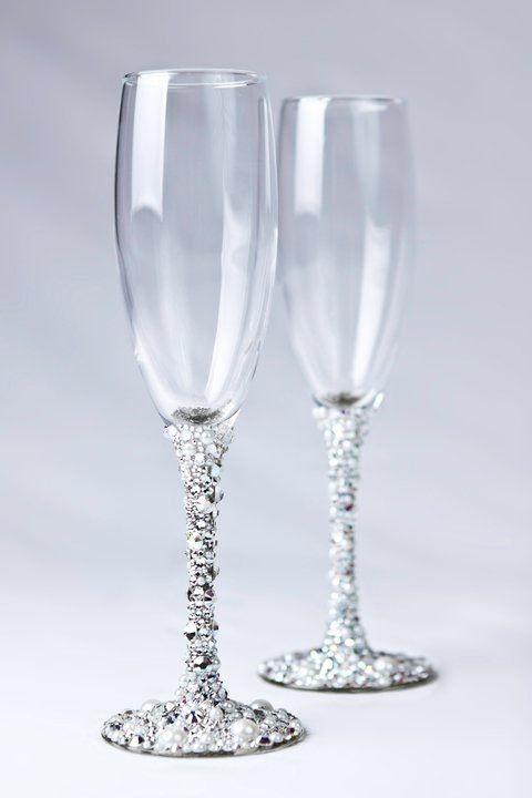 Swarovski Crystal Wedding Champagne Glasses Things I 39 Ve