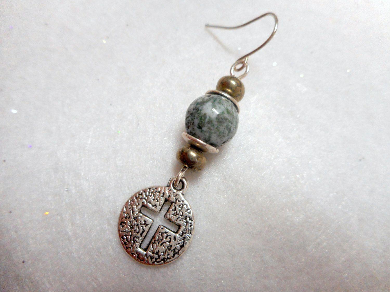 Men\'s Earring Man\'s Jewelry Single Earring Cross by UniversalCharm ...