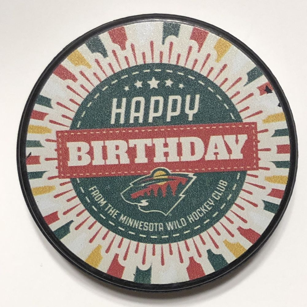 Minnesota Wild Happy Birthday From The Minnesota Wild Hockey Club