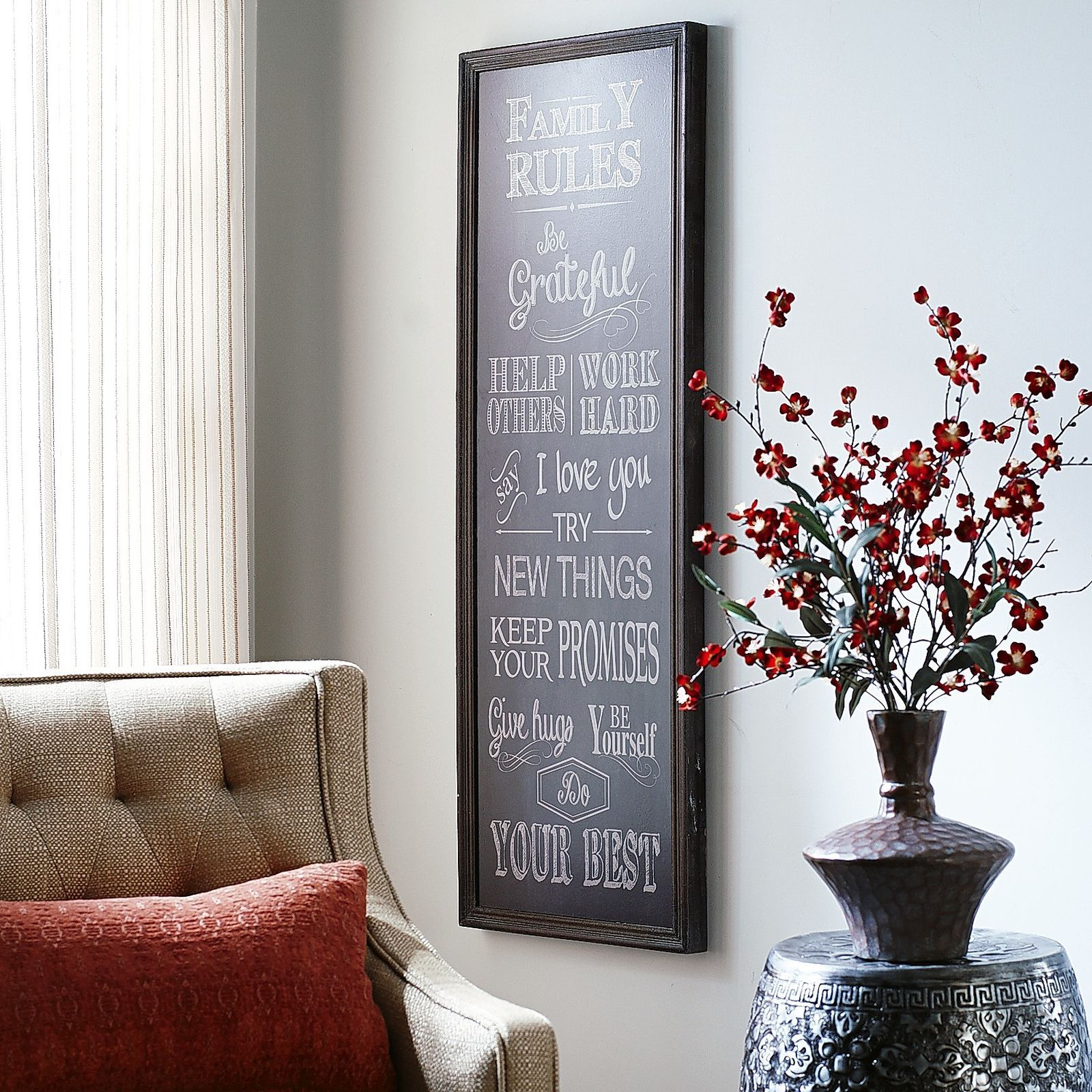 Home Decor Imports: Family Rules Wall Decor