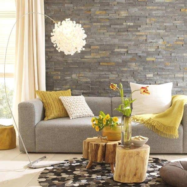 Brilian Ide Desain Wallpaper Dinding Ruang Tamu Minimalis Motif Batu Alam Nyaman Istimewa Terbaru Elegan Ide Dekorasi Rumah Ide Ruang Keluarga Desain Interior
