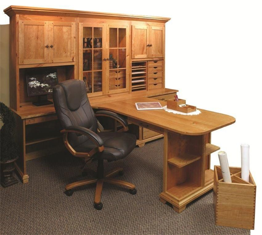 Amish Home Office Bentley Partners Double Desk