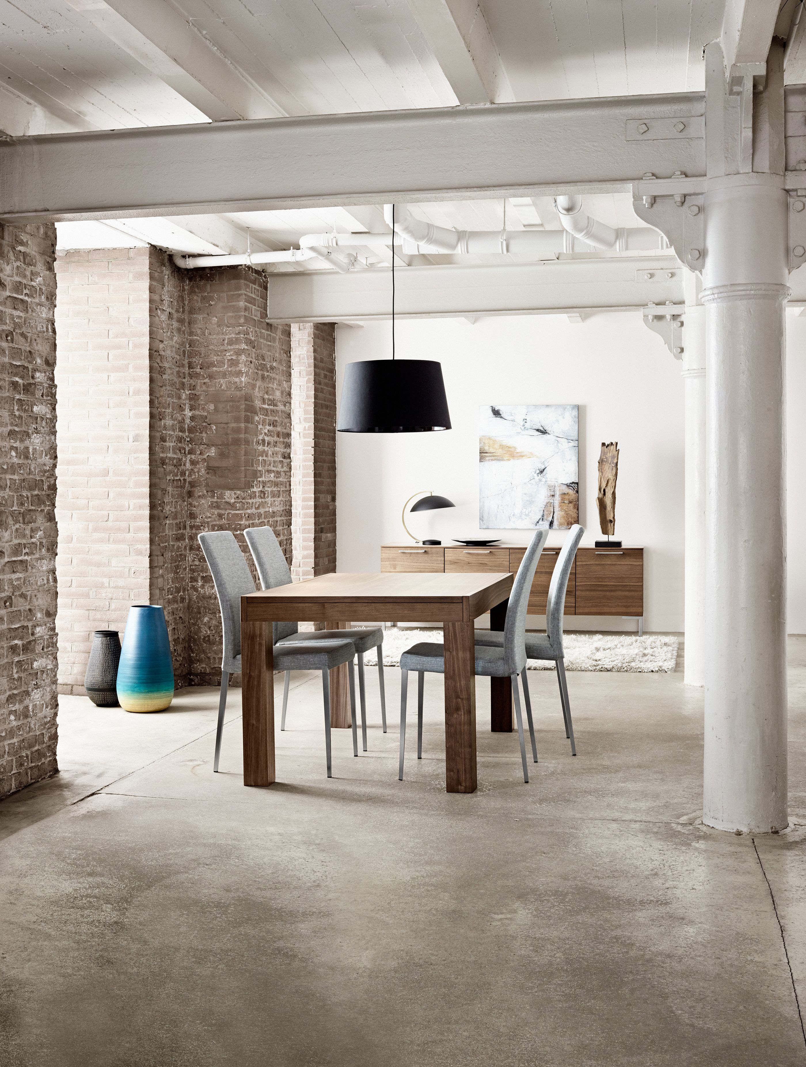 Essen Table With Supplementary Tabletop Contemporary Furniture