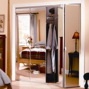 bi fold door wardrobes are made of a frameless style where the