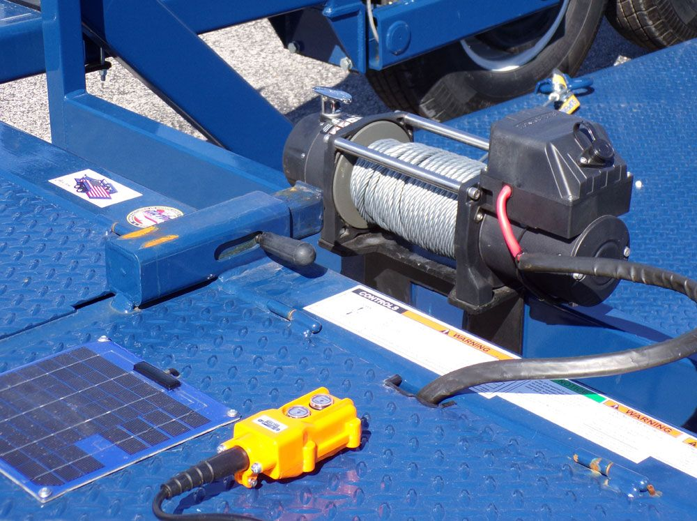 14' AirTow T1410 with solar charged battery and winch
