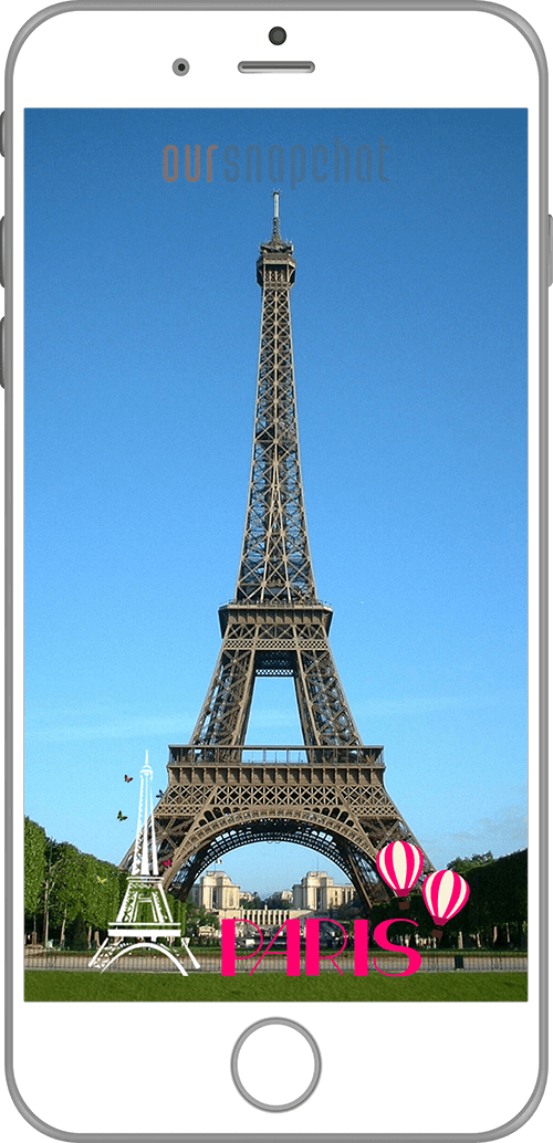 Paris Eiffel Tower Snapchat Filter Template Fun Design For A Trip To France Own Location Based Snapchat Filters F Paris Top Attractions Paris Paris Pictures