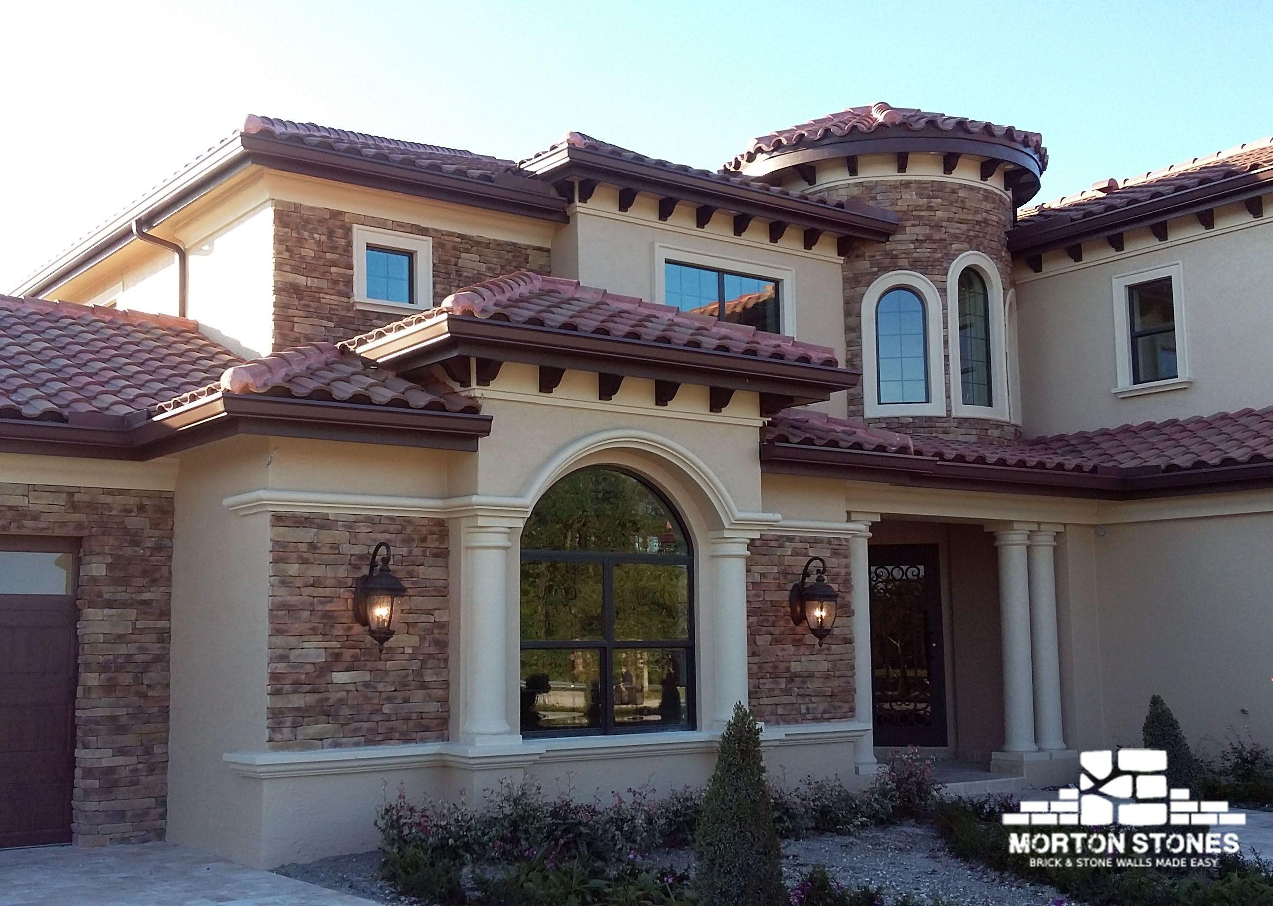Stunning Cultured Stone Home Exterior Stone Exterior Houses Brick Veneer Stone Houses