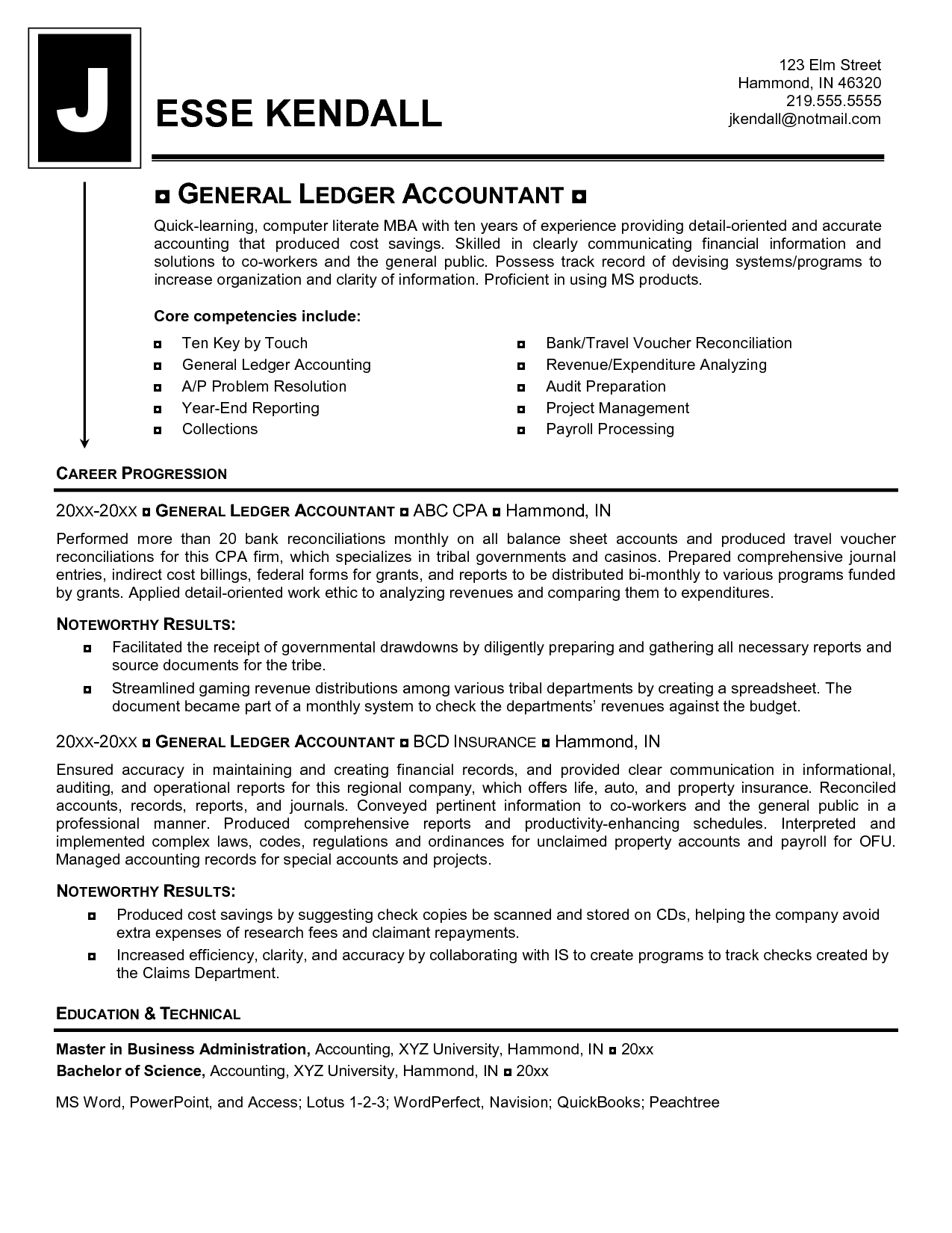 Reconciliation Accounting Resume  HttpWwwResumecareerInfo