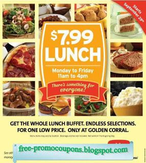 photograph about Coupon for Golden Corral Buffet Printable titled Absolutely free Printable Golden Corral Discount coupons Absolutely free printable Absolutely free