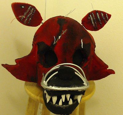 five nights at freddys 4 nightmare foxy fur head cosplay costume halloween