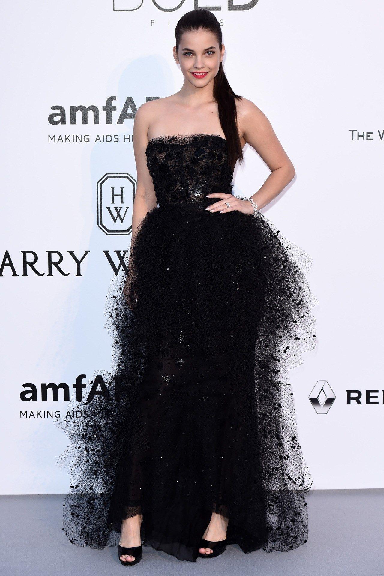 Barbara Palvin wore a Giorgio Armani Privé gown
