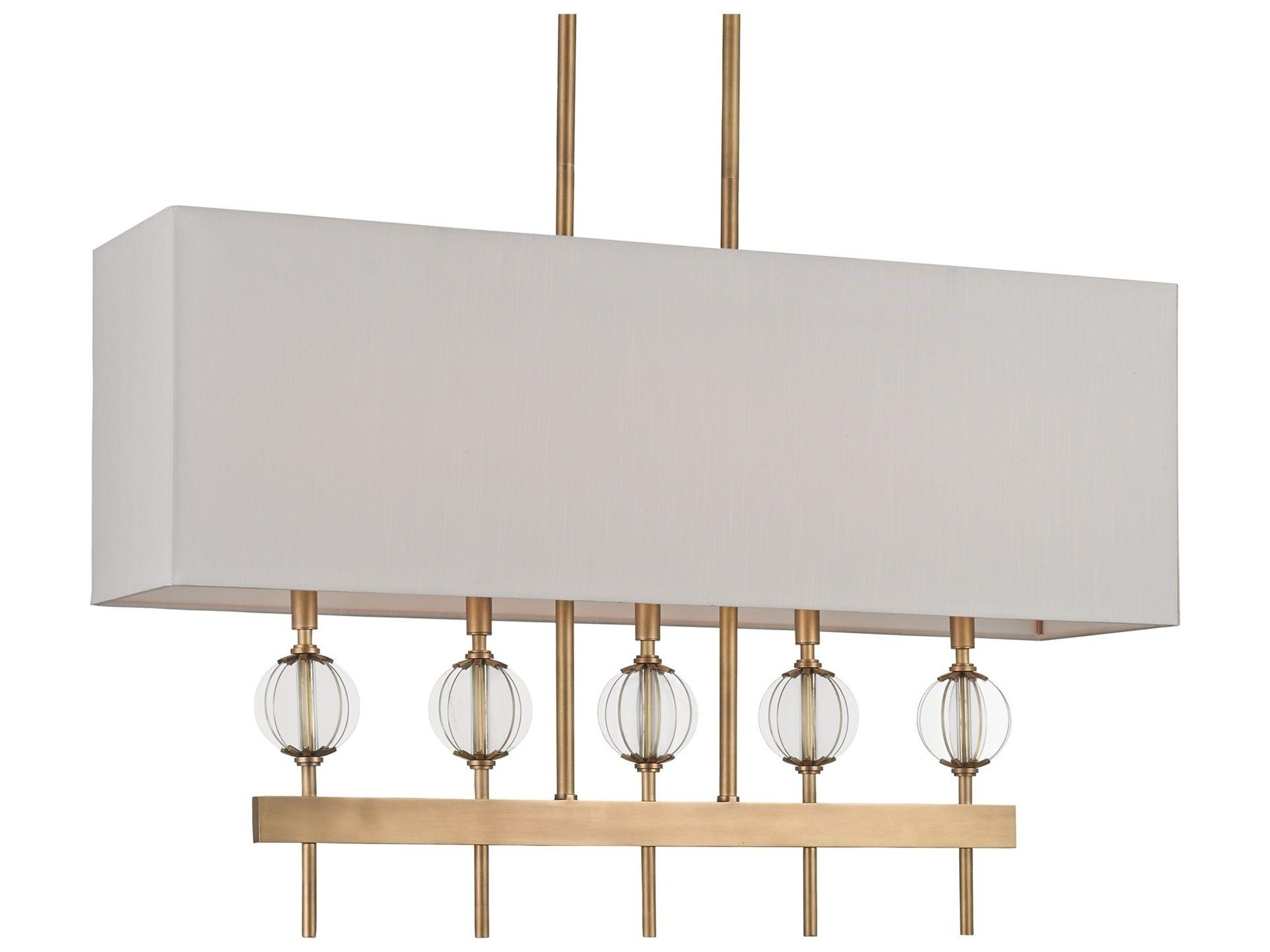 Currey & Company Highview Antique Brass 5-Light Chandelier | CY9312