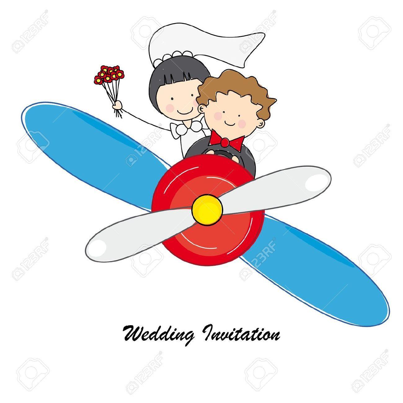 14404104-wedding-invitation-Boyfriends-flying-in-airplane--Stock ...