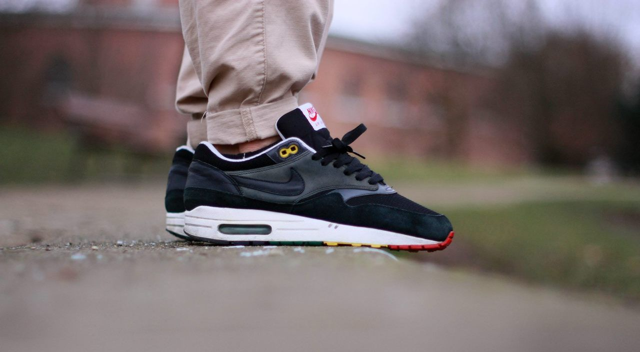 sweetsoles: Nike Air Max 1 'Rasta' (by Biggie Smalls