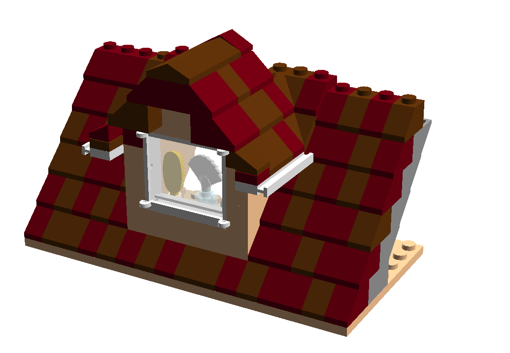 The Brick Worm House Dormer Lego House Lego Blueprint Lego
