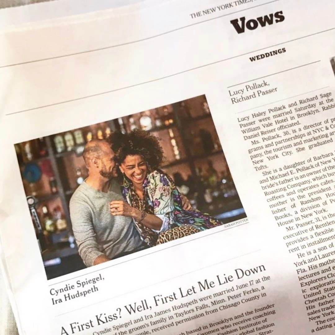 NEWS THAT'S FIT TO PRINT.  If the gorgeous wedding wasn't enough...Read today's @nytimes for a feature on us in the Weddings section.  #fuckingmagic2017