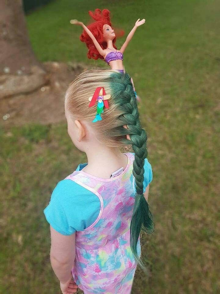 For crazy hair day at school. Leave out the barbie and just