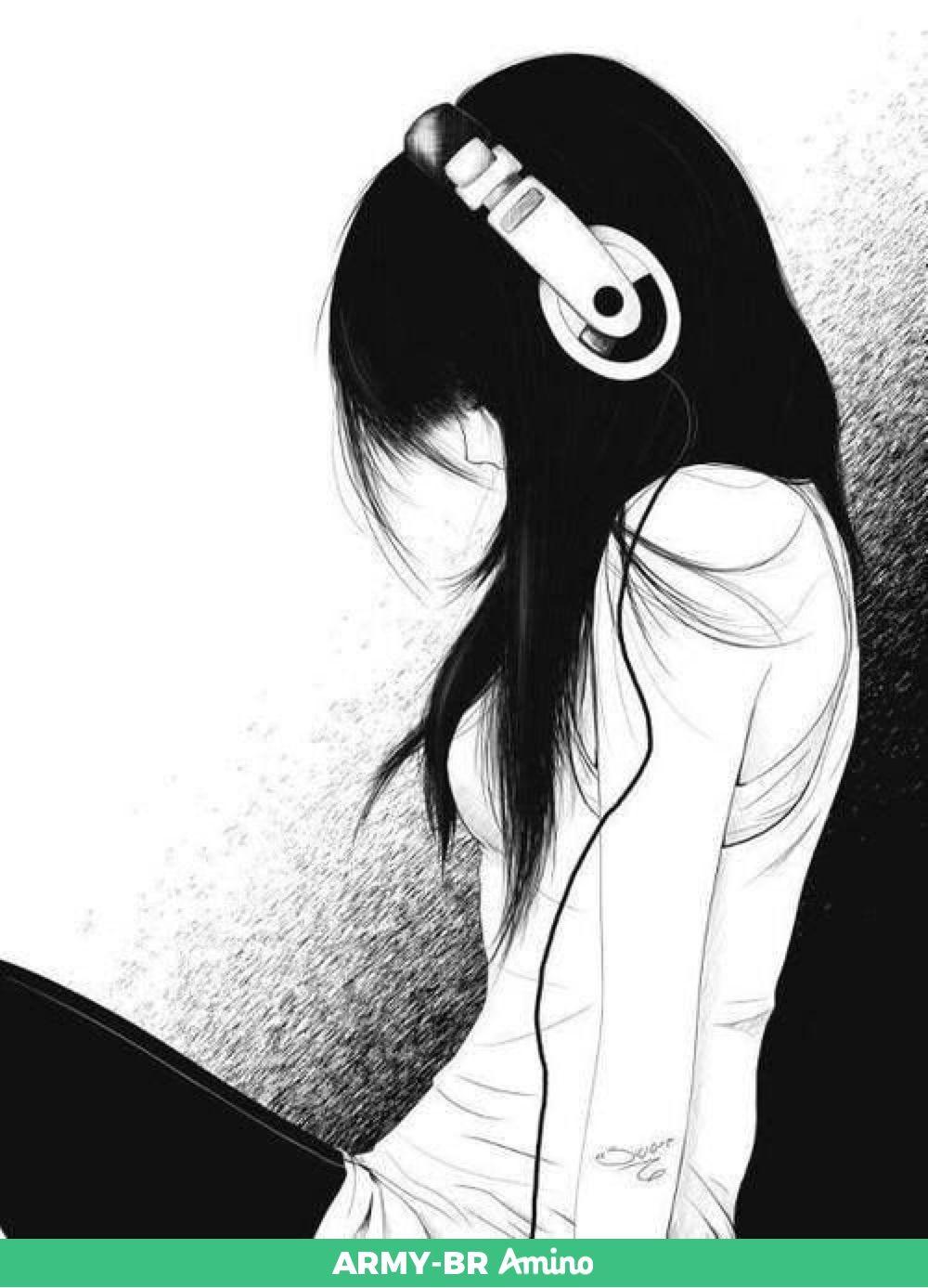 Dibujos Chica De Anime Llorando Arte Emo Imagenes De Chicas Tristes