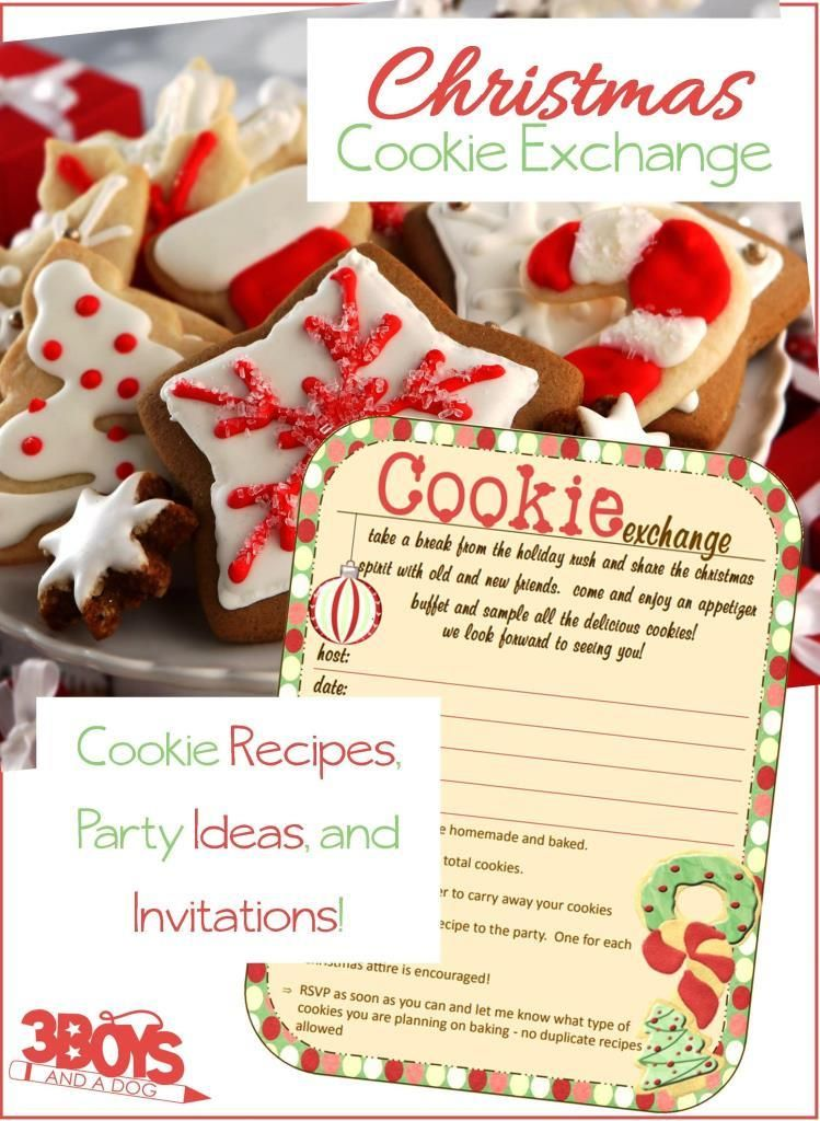 Christmas Cookie Baking Party Ideas Part - 22: Christmas Cookie Exchange Party Planner
