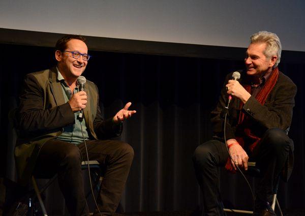 """Tom Lanoye en Jaap Goedegebuure gesels oor Tom Lanoye se boek """"Sprakeloos""""."""