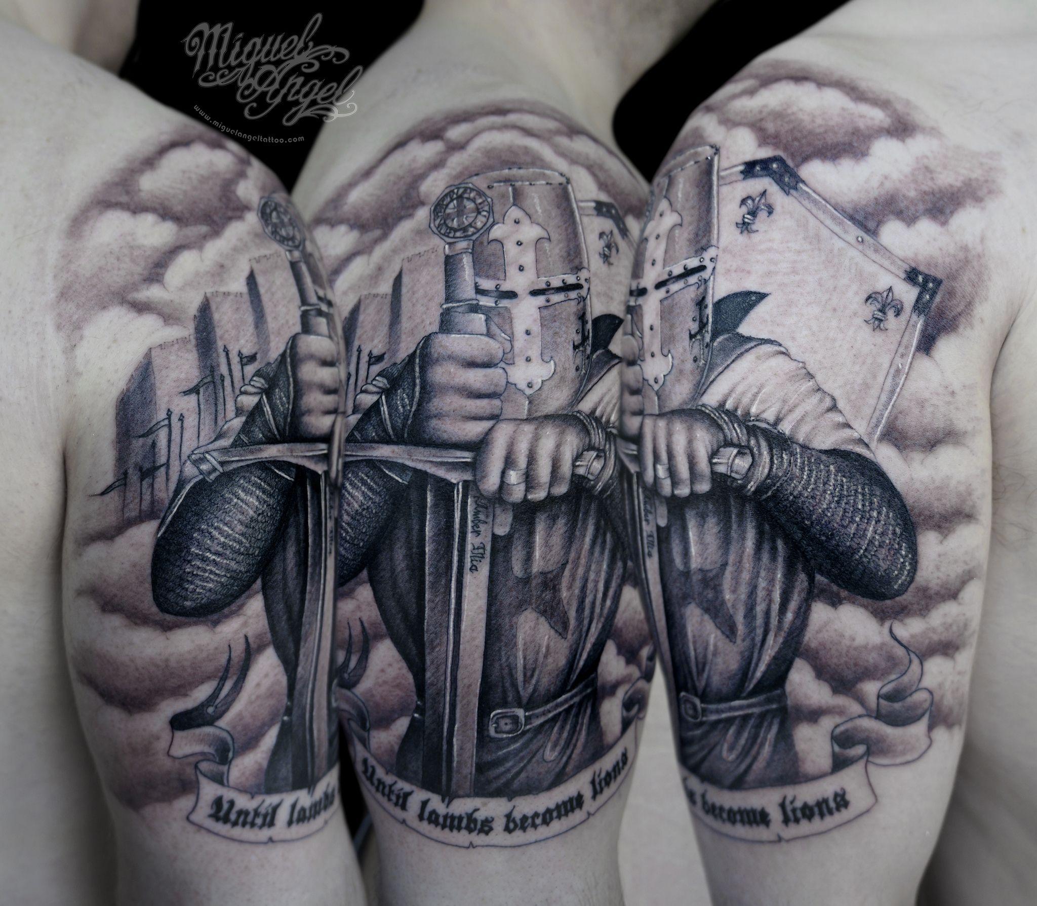 Custom Knight Templar Tattoo