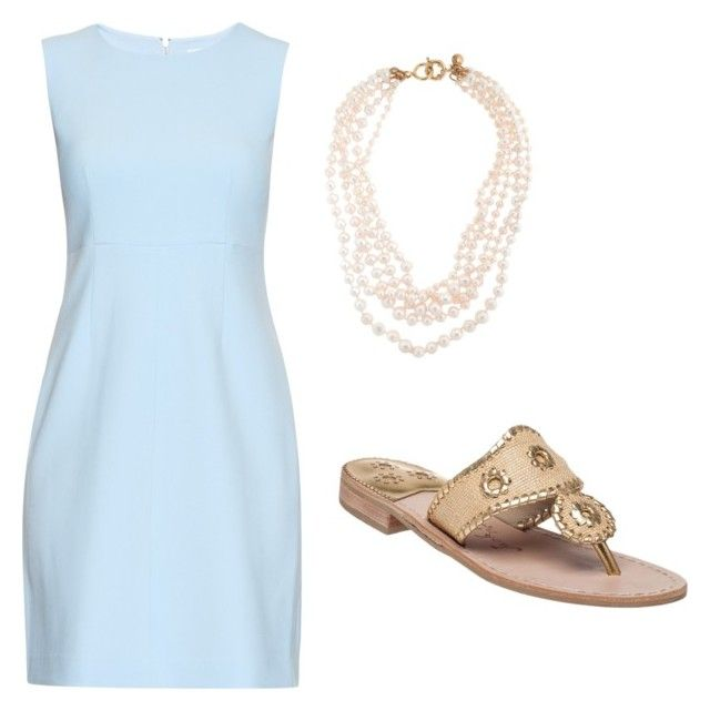 """""""Jcrew lovin """" by preppyannahearne ❤ liked on Polyvore featuring Diane Von Furstenberg, J.Crew, Jack Rogers, women's clothing, women, female, woman, misses, juniors and preppy"""