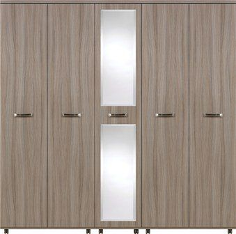 Grey Wardrobe Large 5 Door M Ready Embled Modern Bedroom Furniture Co