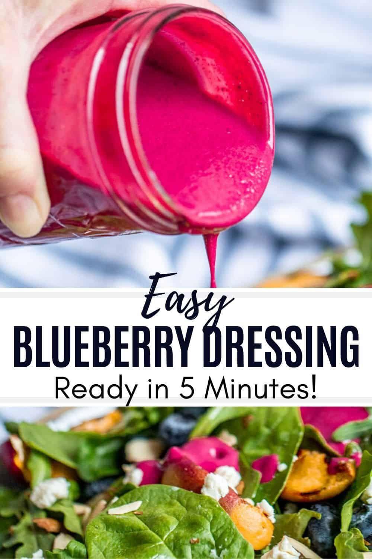 Easy Blueberry Salad Dressing Recipe Blueberry Salad Dressing Blueberry Vinaigrette Blueberry Salad [ 1500 x 1000 Pixel ]