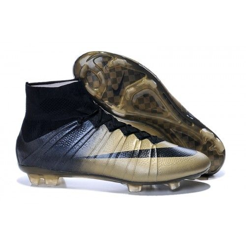 best sneakers 93cb0 64fc1 Nike Mercurial Superfly CR7 FG Fußballschuhe Golden Schwarz