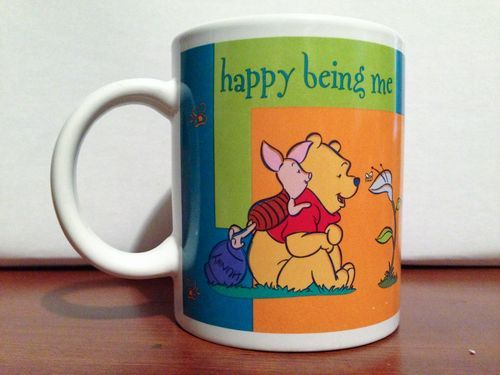 Winnie The Pooh Works Coffee Mug Disney Piglet Happy Being Me Hundred Acre Wood