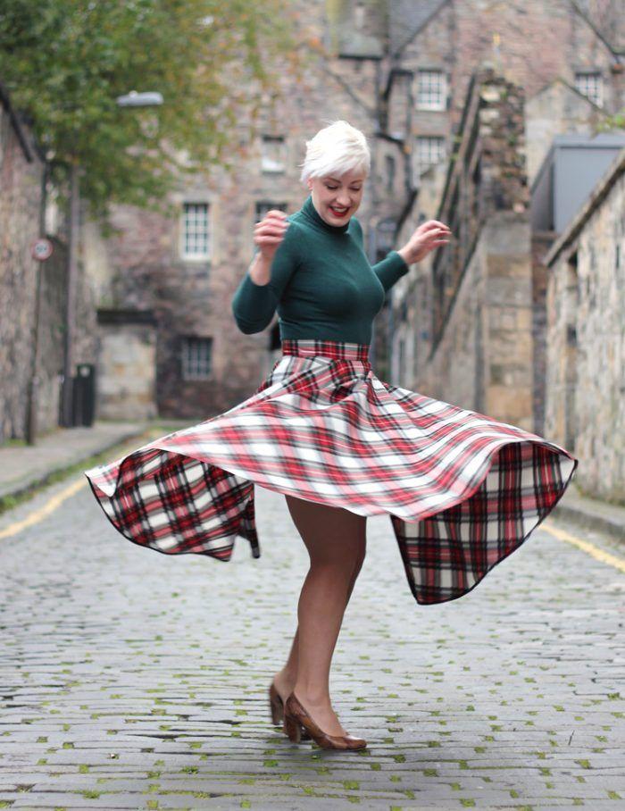 050629e5f Tartan Midi Skirt - Plaid Check Skirt for an Autumn Winter Outfit ...