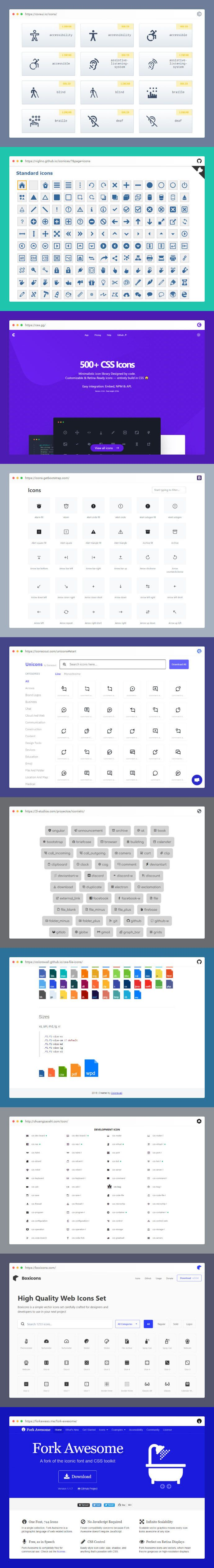 10 Awesome CSS & Javascript Icon Libraries 2020 Web