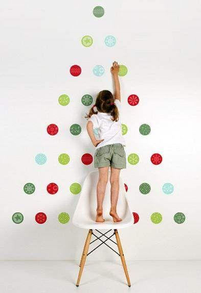 Vinilos navideños para paredes