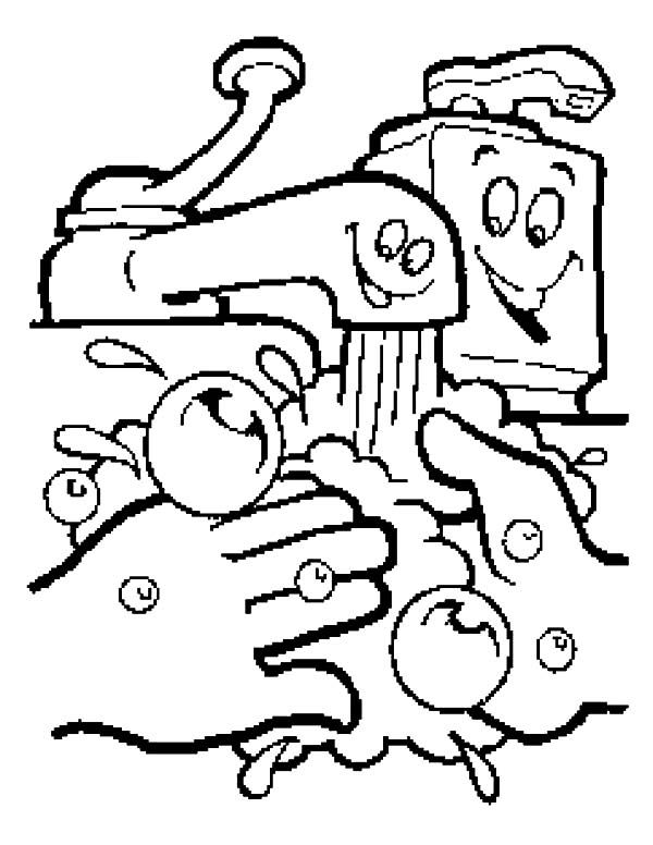 Hand Washing Coloring Page Sketch Coloring Page Coloring Pages Coloring For Kids Hand Washing Poster