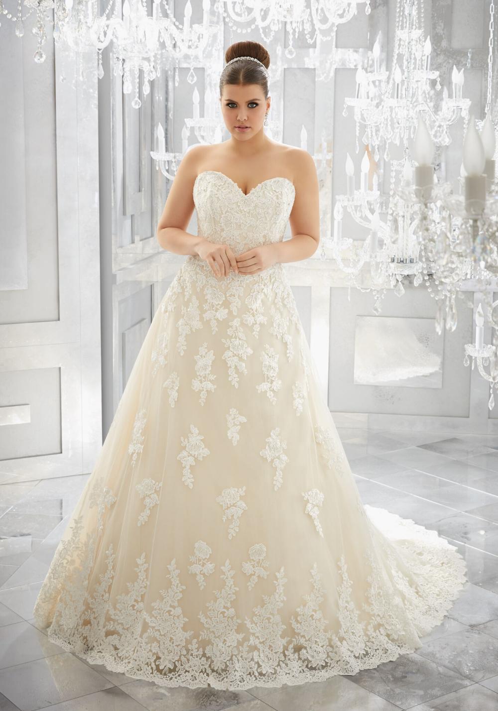 Vestido de novia de talla grande Muriella |  Morilee  – Boda