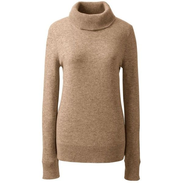 d51c1e84bf8 Lands  End Women s Petite Classic Cashmere Turtleneck Sweater ( 159) ❤  liked on Polyvore featuring tops