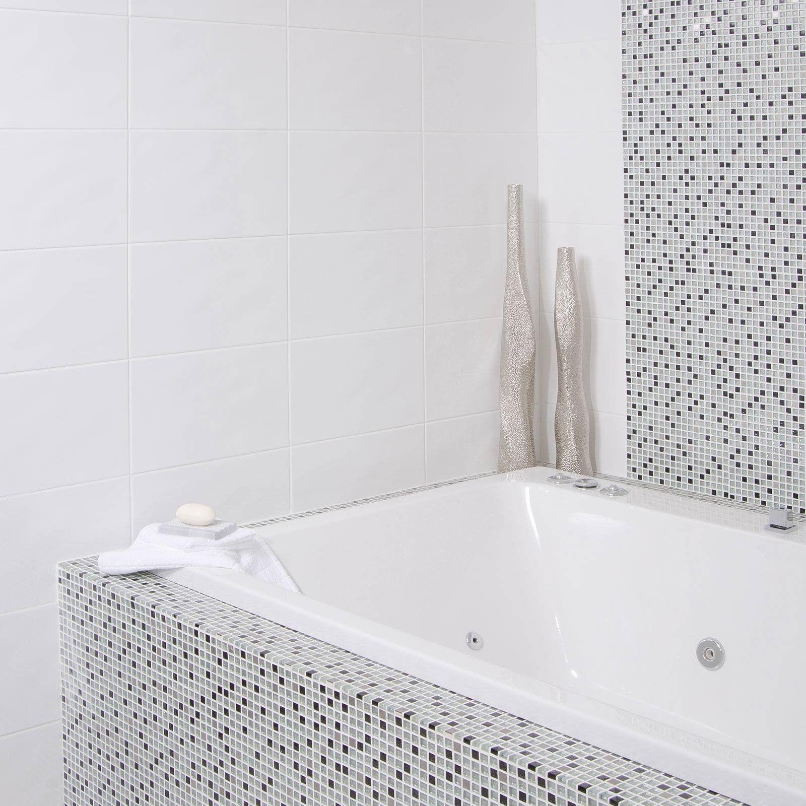 Beret Blanco Tile Black And White Bathroom Ideas White Tiles