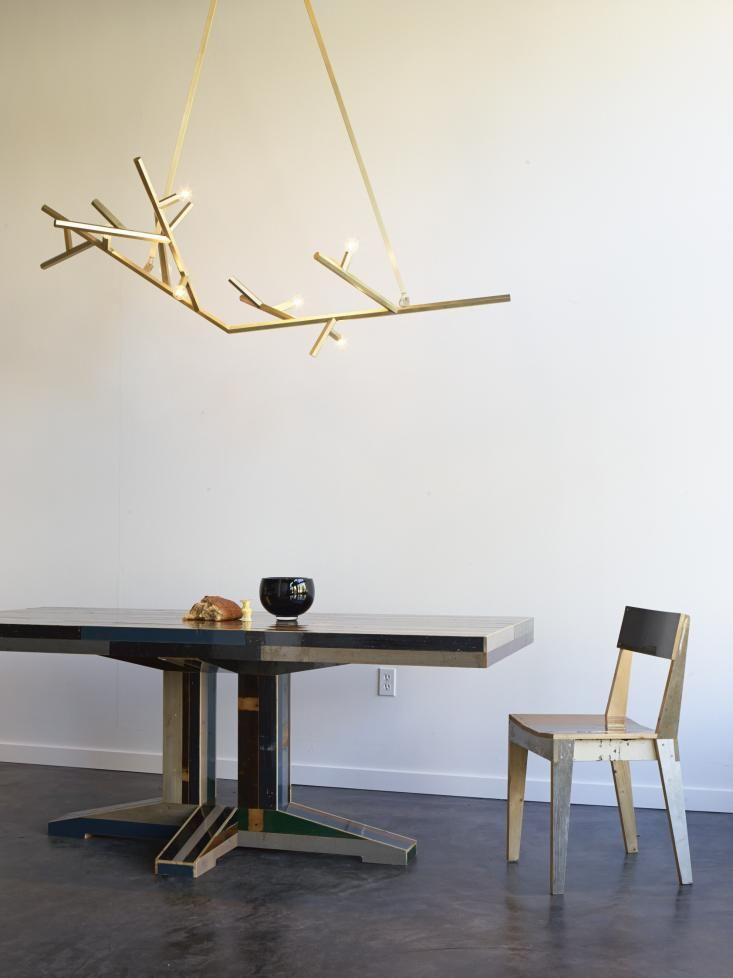 Suspended Over The Table Is A Linden Chandelier By Local Designer Charles  De Lisle For The