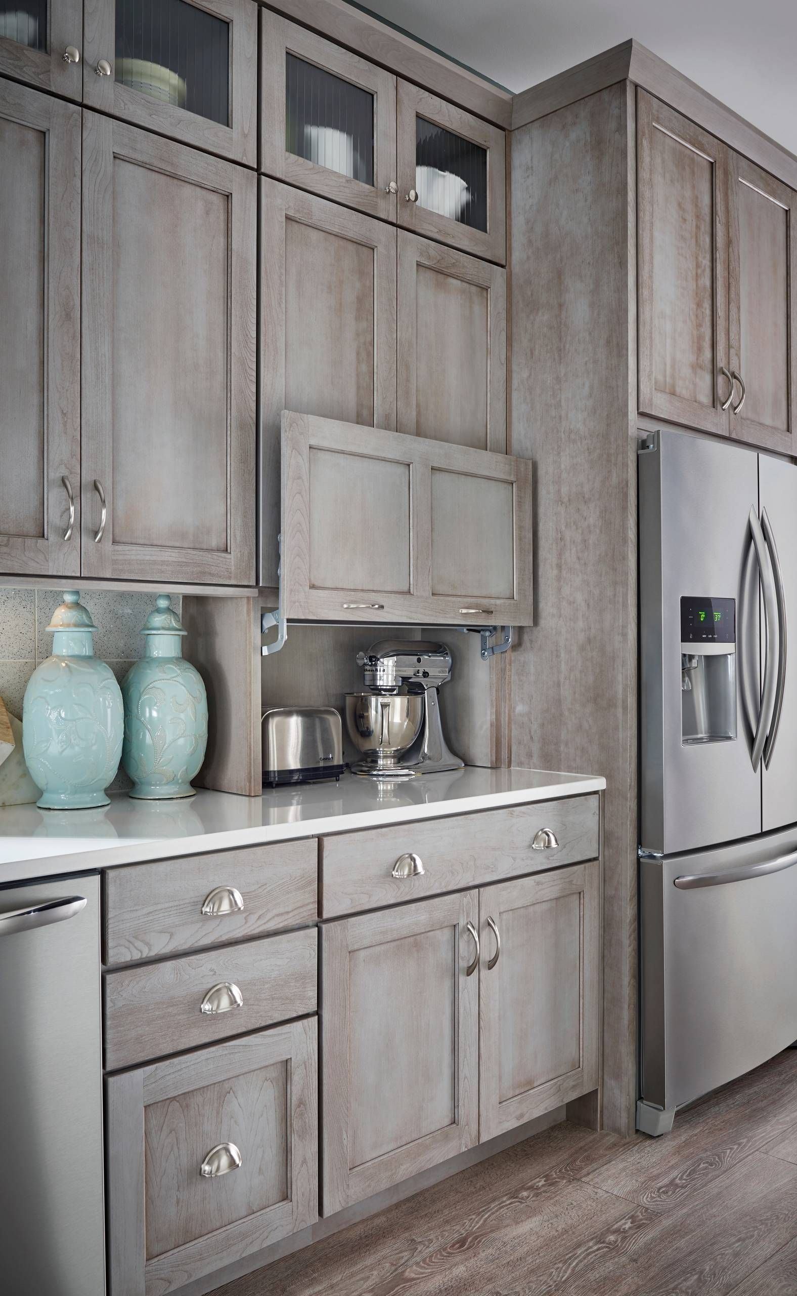 Shades Of Gray Kitchen Chicago By Schuler Cabinetry Houzz Rustic Kitchen Rustic Kitchen Cabinets Farmhouse Style Kitchen