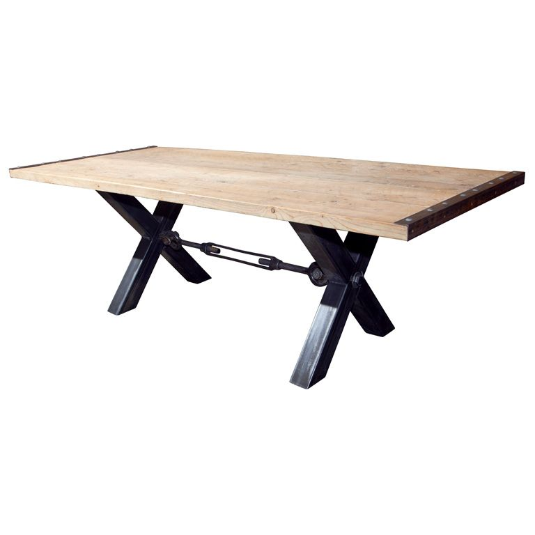 Industrial Style Steel Base Dining Table  Industrial Style Impressive Industrial Style Dining Room Tables 2018