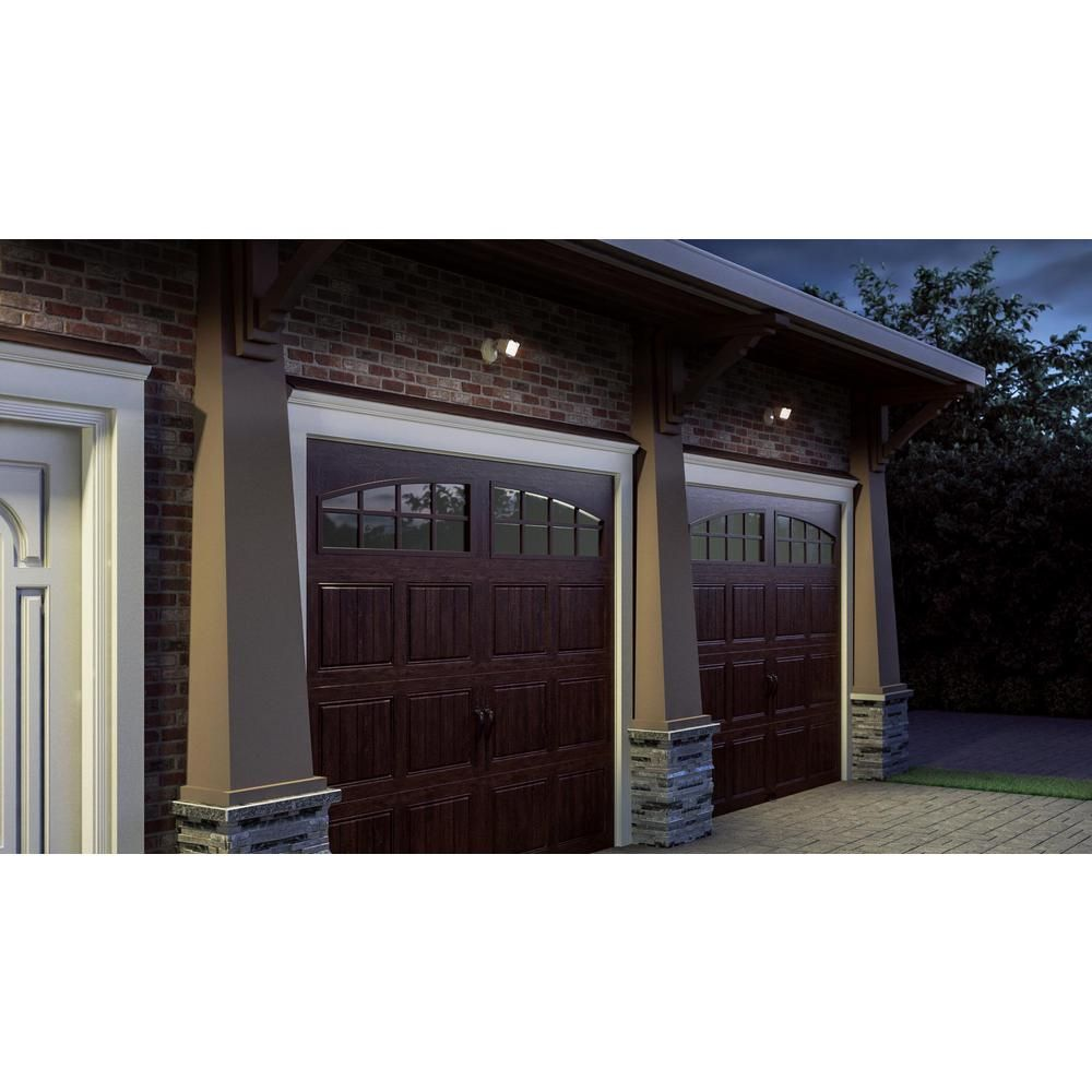 Clopay Gallery Collection 8 Ft X 7 Ft 6 5 R Value Insulated Ultra Grain Walnut Garage Door With Arch Window Gr1sp Wo Grla1 The Home Depot Garage Door Design Garage Door Colors Garage Door Styles