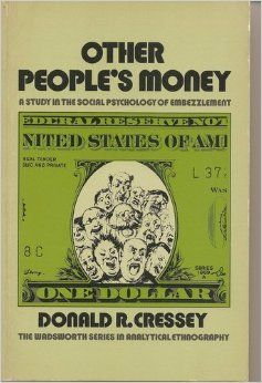 Other People's Money: Study in the Social Psychology of